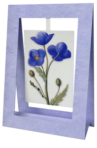 Blue Pavot Mini Swing Elegant Blank Greeting Cards with Floral Designs for Anniversary, Baby Shower, Birthday, Wedding, and Bridal Shower