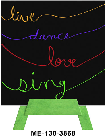Live Dance Love Sing Mini Easel Greeting Cards Artwork For Birthdays, Anniversary, Thinking of You, Sympathy Back Blank For Notes by Endless Art US