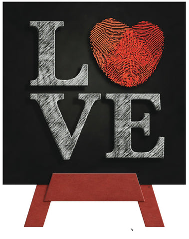 Love Mini Easel Greeting Cards Artwork For Birthdays, Anniversary, Thinking of You, Sympathy Back Blank For Notes by Endless Art US