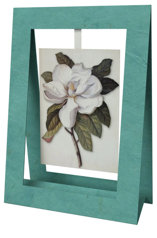 Magnolia Mini Swing Elegant Blank Greeting Cards with Floral Designs for Anniversary, Baby Shower, Birthday, Wedding, and Bridal Shower