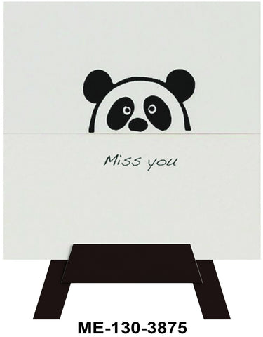 Miss You Mini Easel Greeting Cards Artwork For Birthdays, Anniversary, Thinking of You, Sympathy Back Blank For Notes by Endless Art US