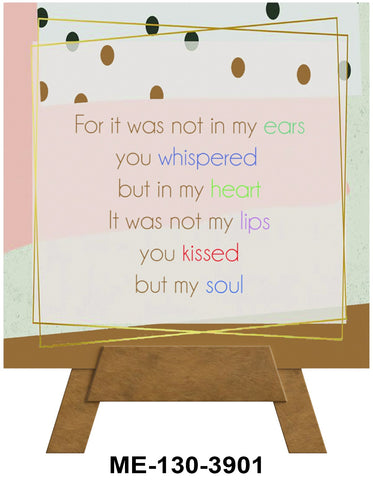 You Kissed My Soul Mini Easel Greeting Cards Artwork For Birthdays, Anniversary, Thinking of You, Sympathy Back Blank For Notes by Endless Art US