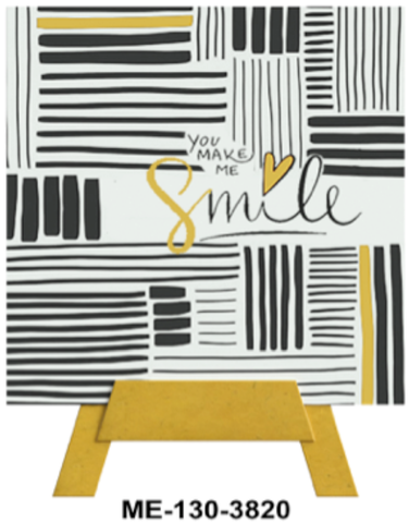 You Make Me Smile Mini Easel Greeting Cards Artwork For Birthdays, Anniversary, Thinking of You, Sympathy Back Blank For Notes by Endless Art US