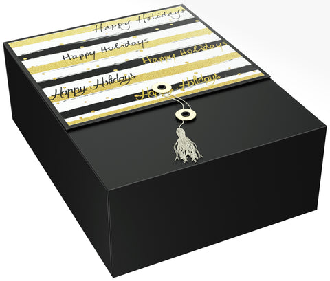 "Stripes Karma EZ Gift Box 12""x9""x4"" Inches - ezgiftbox"