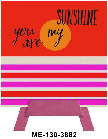 You Are My Sunshine Mini Easel Greeting Cards Artwork For Birthdays, Anniversary, Thinking of You, Sympathy Back Blank For Notes by Endless Art US