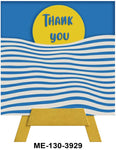 Thank You Mini Easel Greeting Cards Artwork For Birthdays, Anniversary, Thinking of You, Sympathy Back Blank For Notes by Endless Art US