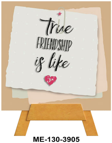 True Friendship Mini Easel Greeting Cards Artwork For Birthdays, Anniversary, Thinking of You, Sympathy Back Blank For Notes by Endless Art US