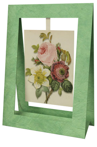 Anemone Clematide Mini Swing Elegant Blank Greeting Cards with Floral Designs for Anniversary, Baby Shower, Birthday, Wedding, and Bridal Shower