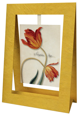 2 Tulips Ambassador Mini Swing Elegant Blank Greeting Cards with Floral Designs for Anniversary, Baby Shower, Birthday, Wedding, and Bridal Shower