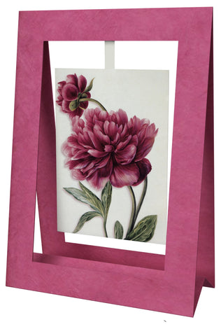 Pivoine With Bud Mini Swing Elegant Blank Greeting Cards with Floral Designs for Anniversary, Baby Shower, Birthday, Wedding, and Bridal Shower