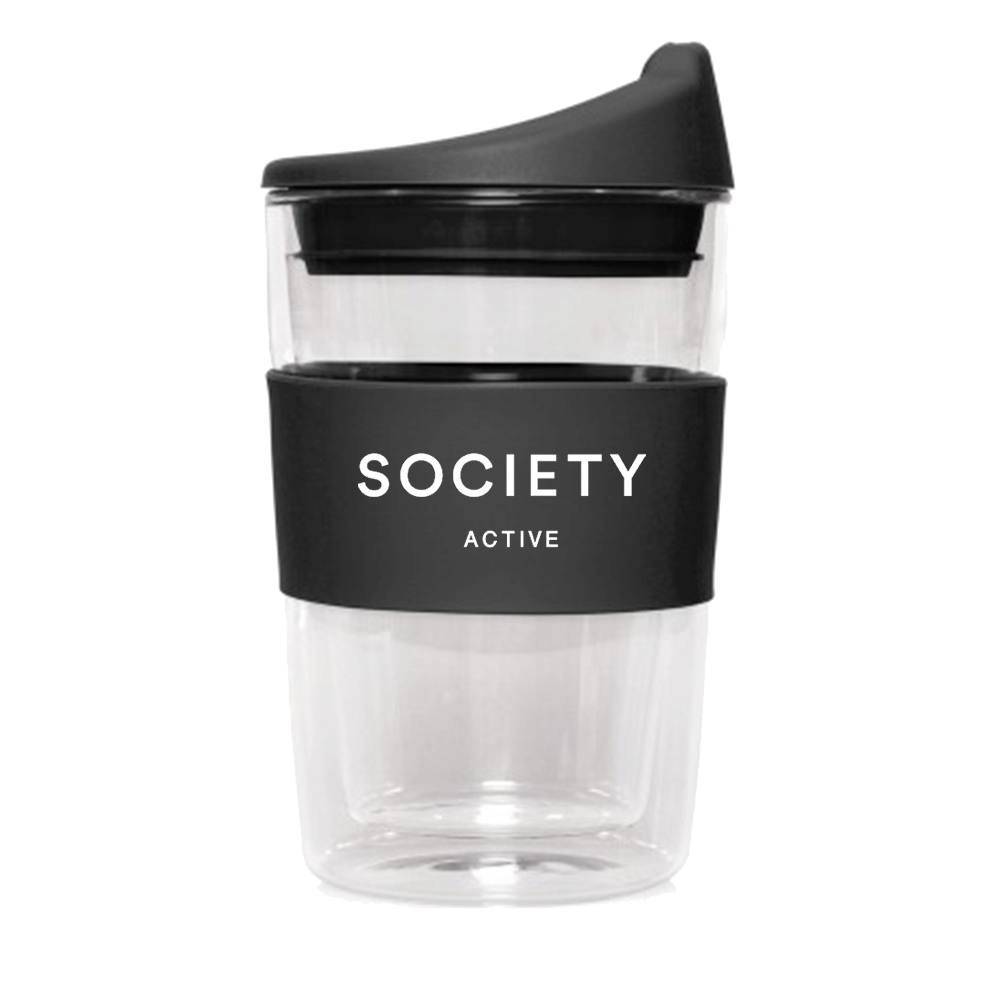 Black Double Walled Reusable Cup