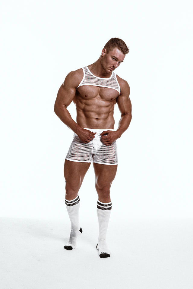 Varsity Mesh - Harness - White