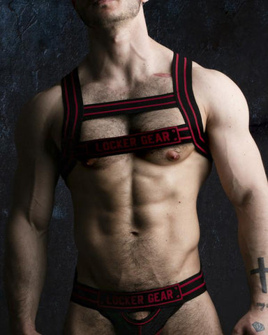 Locker Gear Chest Harness - Red