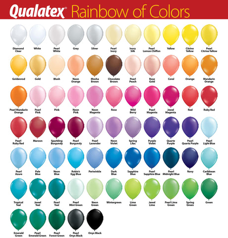 Qualatex 5-inch mini latex balloon