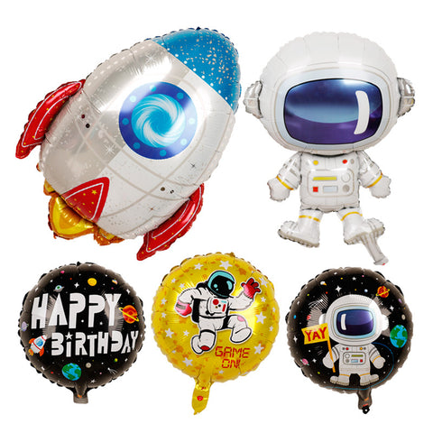 Space Theme Astronaut Foil Balloon Party Decorations