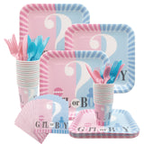 Gender Reveal Disposable plates, cups, fork & spoons for parties