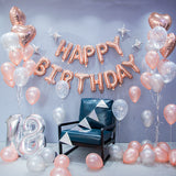 Rose Gold theme balloon decoration pack for birthday parties (6-D)