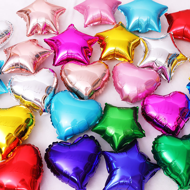 Star and heart shape Foil Balloons