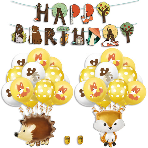 Safari Woodland animal zoo theme birthday value pack 3