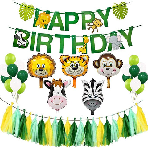 Safari animal zoo theme birthday value pack 1