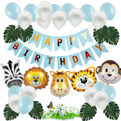 Animal Safari Theme Balloon Birthday Party Décor Pack 1