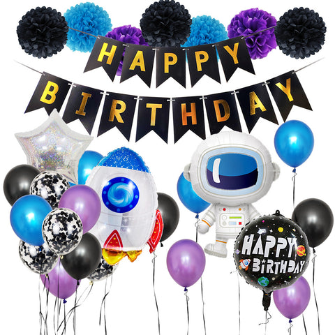 Space Astronaut Theme Balloon Birthday Party Décor Pack 5