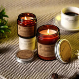 Scented Candles Aroma Sensation - Brown Bottle
