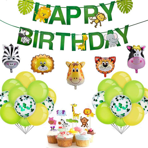 Safari animal zoo theme birthday value pack 2