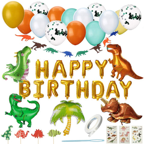 Dinosaur theme happy birthday value pack 1