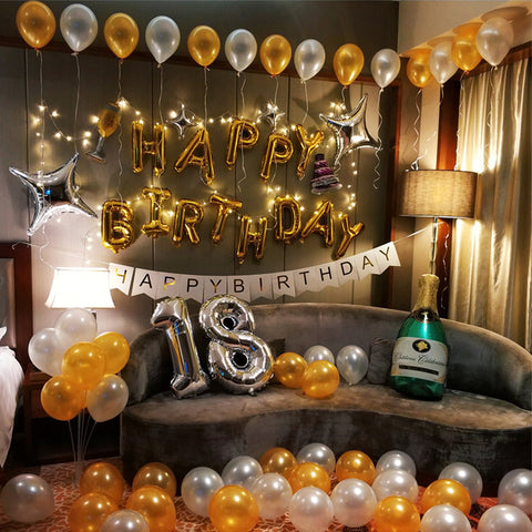 Premium birthday deco set 3 - no helium required