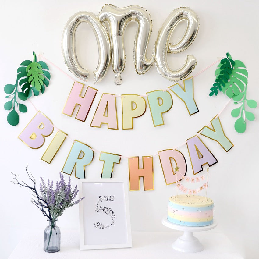 Minimalist Baby shower one year old birthday decoration