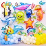 Ocean Animal Large Foil Balloons Under the Sea Cartoon Creatures