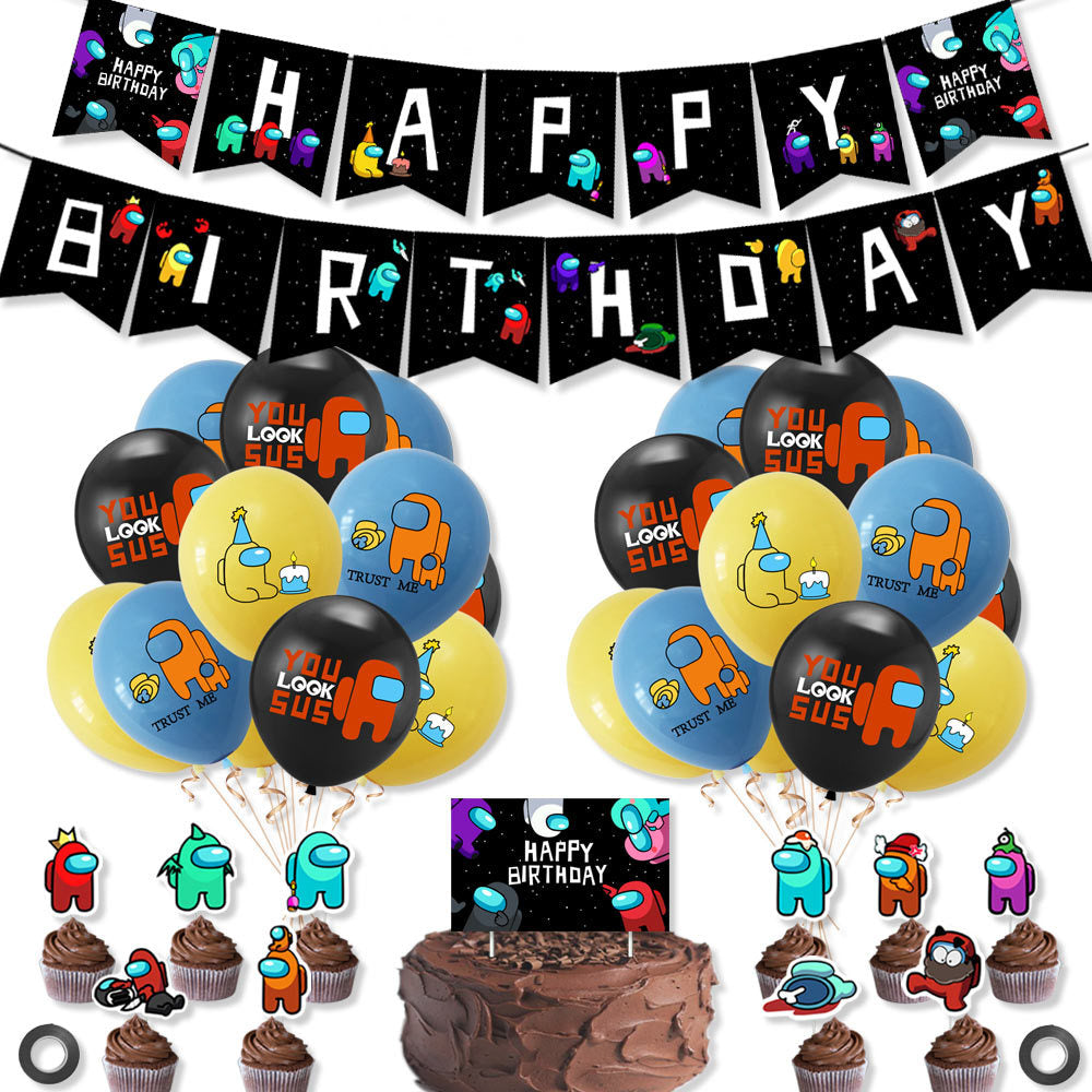 Among Us Theme Birthday Set