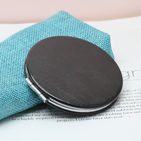 Personalised PU Leather Make up Mirror
