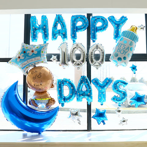 Happy 100 days deco pack for baby boy