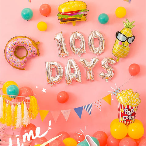 happy 100 days happy 30 days balloon decoration pack