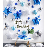 All star birthday party decoration pack (blue) - no helium required