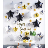 All star birthday party decoration pack (black gold) - no helium required