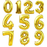 Gold theme balloon decoration pack for birthday parties (6-B)