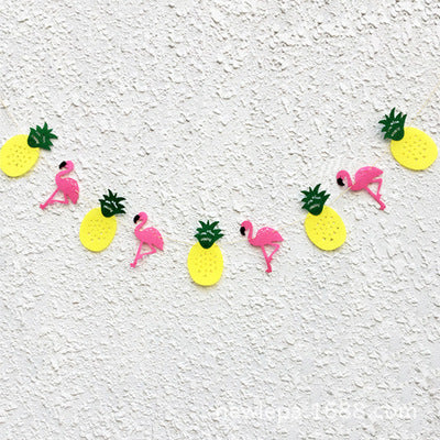 Pineapple & flamingo banner
