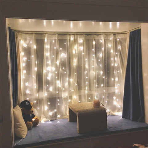 Warm White 3m x 3m drop down curtain lights