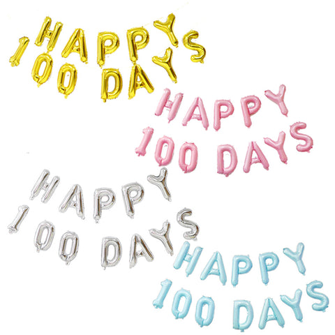 16 inch HAPPY 100 DAYS foil balloon