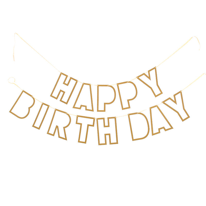 Hollow happy birthday banner