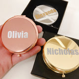 Personalized name Mini Mirror for bridal shower wedding gift