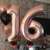 40 inch number foil balloon party wedding event decor
