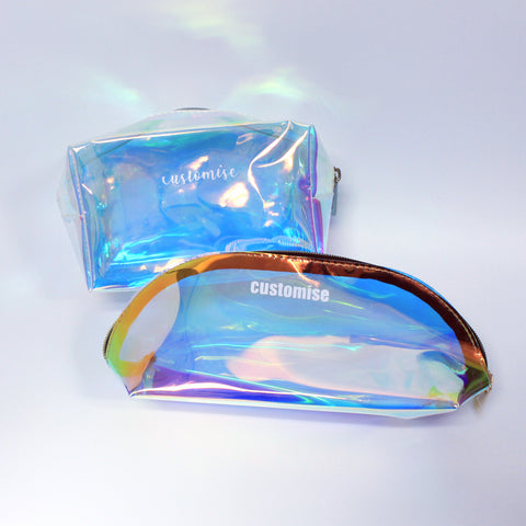 Iridescent Personalised Make Up Pouch Pencil Case