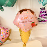Donut Candy Ice cream Popcorn Party Foil Balloon