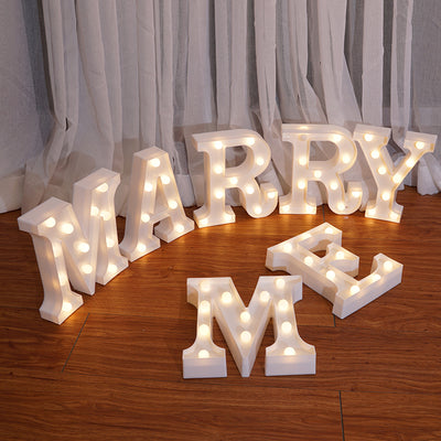"Remote control ""MARRY ME"" letter light"