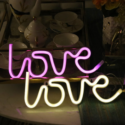"Remote control Neon light strip ""LOVE"""