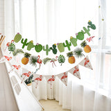 Tropical Party Bunting Flamingo Cactus Banner